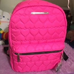 Betsey Johnson quilted hearts backpack